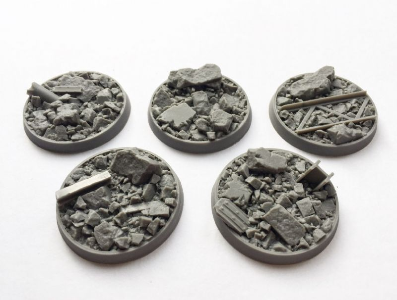 40mm Urban Rubble bases (5)